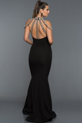 Long Black Evening Dress F278