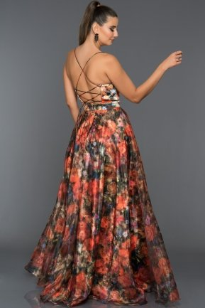 Long Orange Evening Dress GG6972