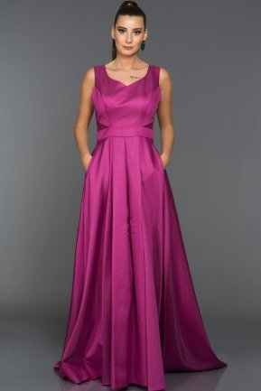 Long Fuchsia-Evening Dress ABU192