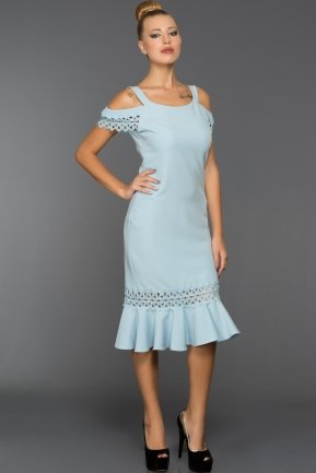 Short Blue Evening Dress DS400