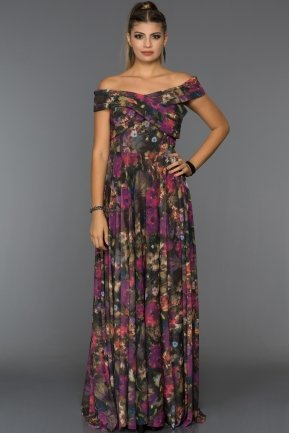 Long Purple Evening Dress GG6988