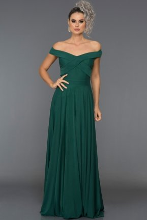 Long Emerald Green Evening Dress AB1163