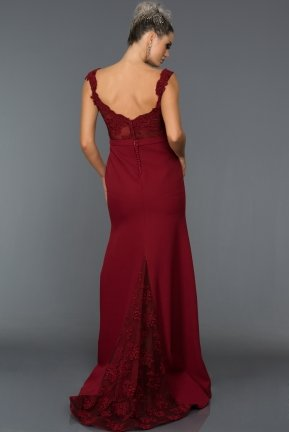Long Burgundy Evening Dress AN2376