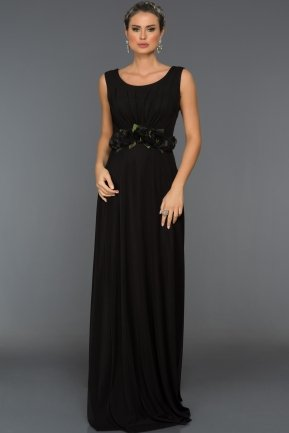 Long Black Evening Dress C7216