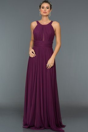 Long Purple Evening Dress C7275