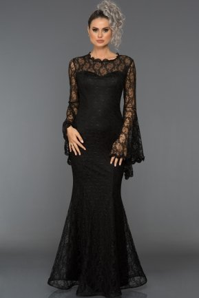 Long Black Prom Dress ABU031