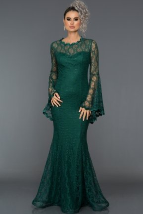 Long Emerald Green Prom Dress L6040