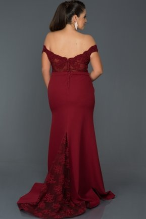 Long Burgundy Oversized Evening Dress AB2376