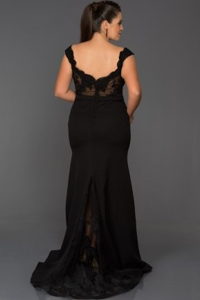 Long Black Oversized Evening Dress AB2376