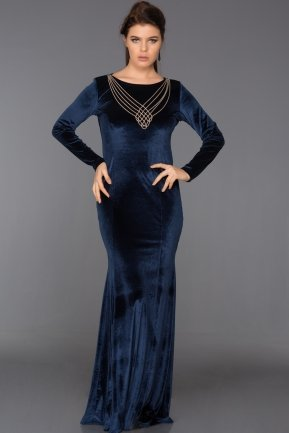 Long Parlement Velvet Evening Dress ABU486