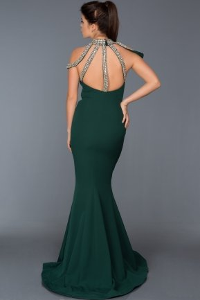 Long Emerald Green Evening Dress F278