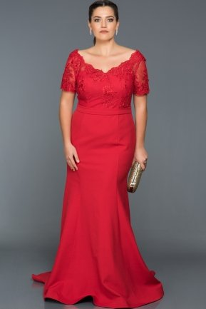 Long Red Plus Size Dress AN2492