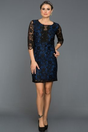 Short Sax Blue Evening Dress AR38136