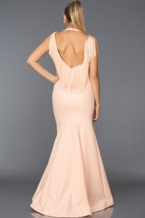 Long Powder Color Evening Dress ABU017