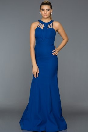 Long Sax Blue Evening Dress ABU006