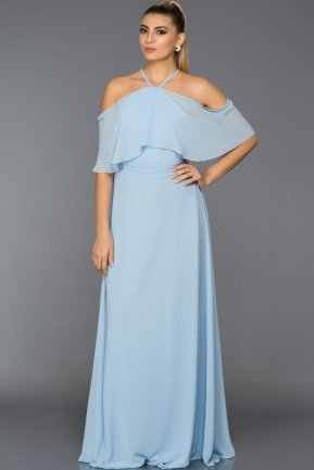 Long Light Blue Evening Dress C7341