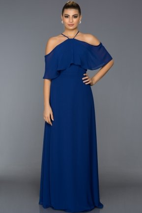 Long Sax Blue Evening Dress ABU002