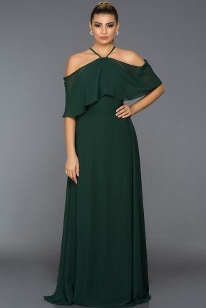 Long Emerald Green Evening Dress ABU002