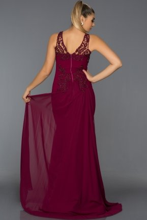 Long Plum Evening Dress AB6856