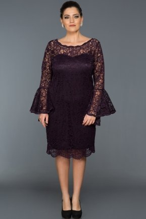 Short Purple Plus Size Dress ABK022
