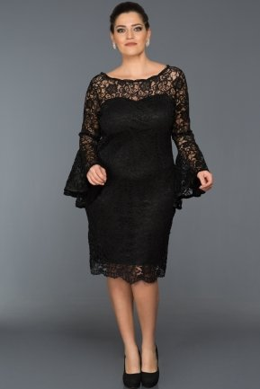 Short Black Plus Size Dress ABK022