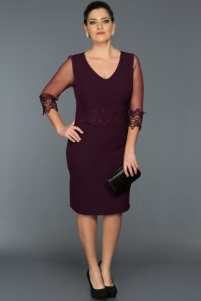Short Purple Oversized Evening Dress AR36849