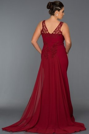 Long Red Oversized Evening Dress AB6856