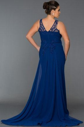 Long Sax Blue Oversized Evening Dress AB6856