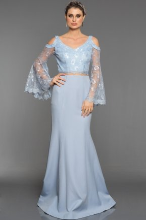 Long Light Blue Engagement Dress ABU1359