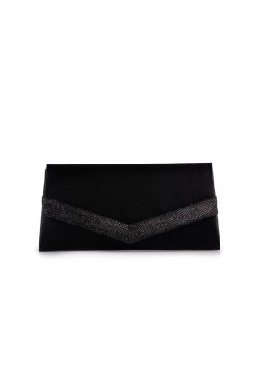 Black Silvery Evening Bag V438