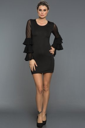 Short Black Night Dresses KR54391