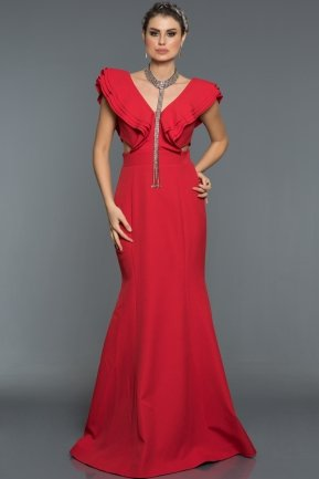 Long Red Evening Dress AB1379