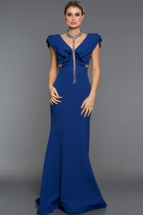 Long Sax Blue Evening Dress AB1379
