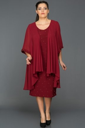 Burgundy Oversized Evening Dress ABK024