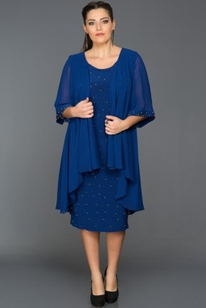 Sax Blue Oversized Evening Dress ABK024