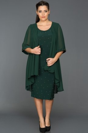 Emerald Green Oversized Evening Dress ABK024