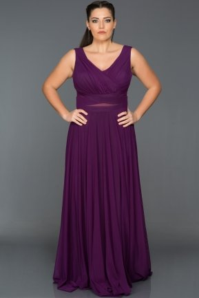 Long Purple Oversized Evening Dress ABU004