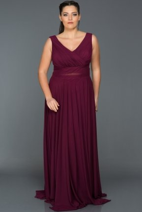 Long Plum Oversized Evening Dress ANB2469