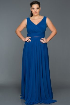 Long Sax Blue Oversized Evening Dress ANB2469