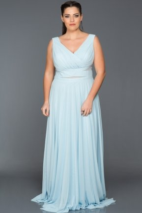 Long Light Blue Oversized Evening Dress ANB2469