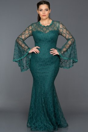 Long Emerald Green Oversized Dress AB6040