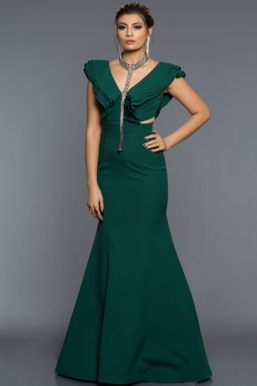 Long Emerald Green Evening Dress AB1379