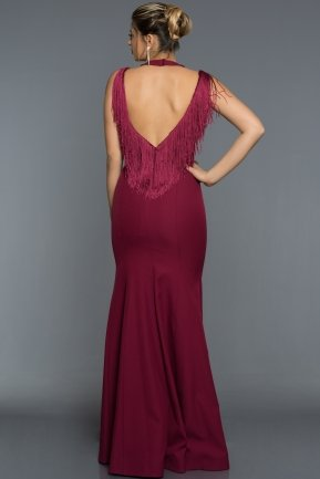 Long Plum Evening Dress ABU017