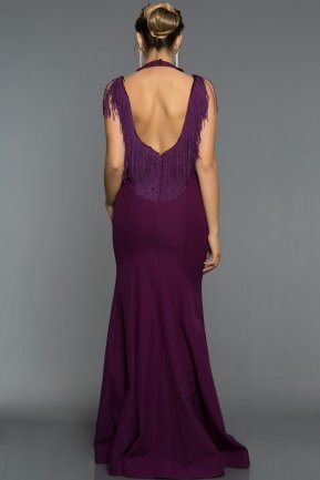 Long Violet Evening Dress ABU017