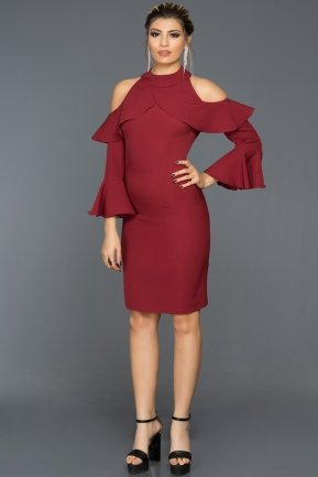 Short Burgundy Night Dress MI14801