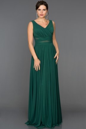 Long Emerald Green Evening Dress ABU004