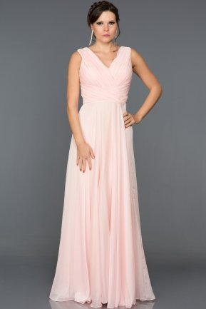 Long Powder Color Prom Gown AN2517