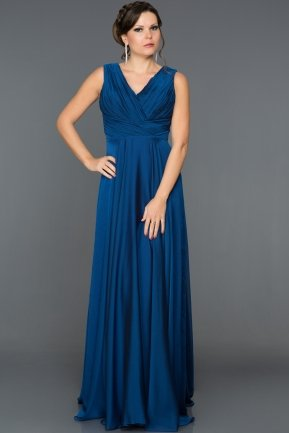 Long Sax Blue Prom Gown ABU157