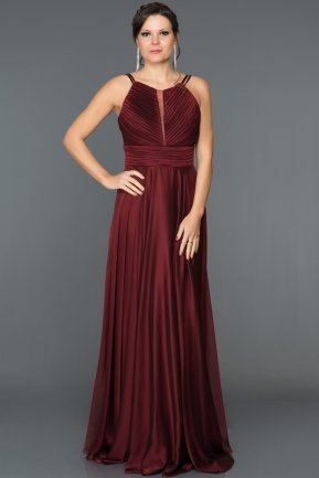 Long Burgundy Engagement Dress AN2518