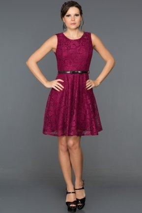 Short Plum Evening Dress ABK028